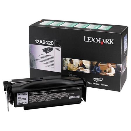 Lexmark 12A8420 Original Black Return Program Toner Cartridge