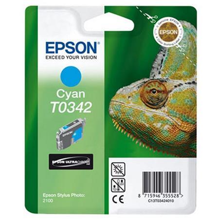 Epson T0342 (T034240) Cyan Original Ink Cartridge (Chameleon)