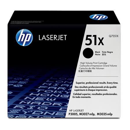 HP LaserJet 51X Black Original Toner Cartridge with Smart Printing Technology (Q7551X)