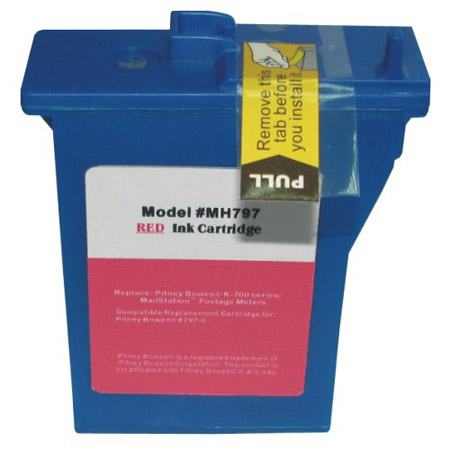 Compatible Red Pitney Bowes 797-0 Ink Cartridge