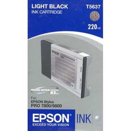 Epson T5637 (T563700) Light Black High Capacity Original Ink Cartridge