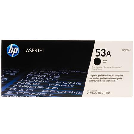 HP LaserJet 53A Black Original Toner Cartridge with Smart Printing Technology (Q7553A)