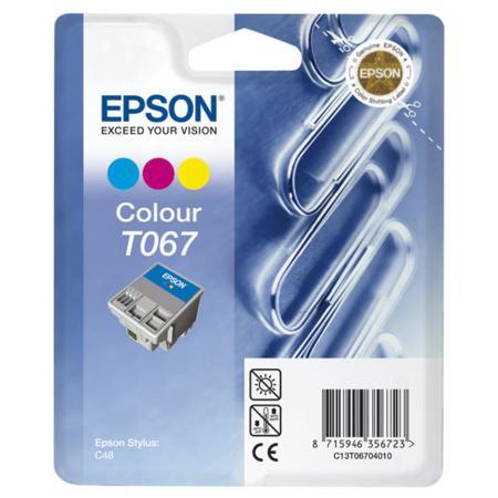 Epson T067 (T067040) Colour Original Ink Cartridge (Paperclip)