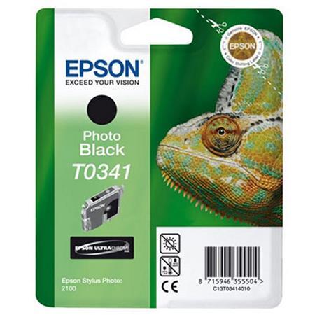Epson T0341 (T034140) Black Original Ink Cartridge (Chameleon)
