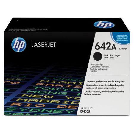 HP Colour Laserjet 642A Black Toner Cartridge with HP Colorsphere Toner (CB400A)
