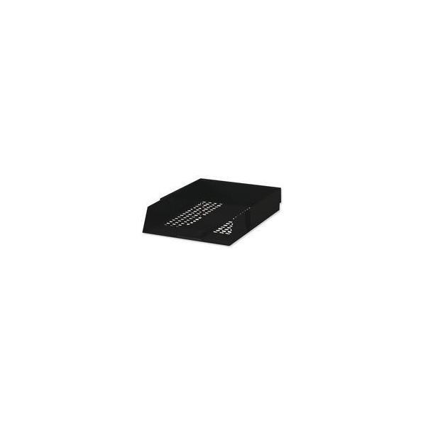 White Box Letter Tray (Black) - Single
