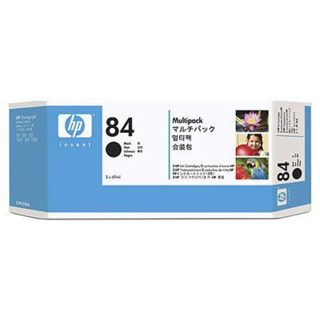 HP 84 Black Original Ink Cartridge - 3 Pack