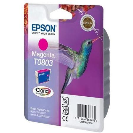 Epson T0803 (T080340) Magenta Original Ink Cartridge (Hummingbird)