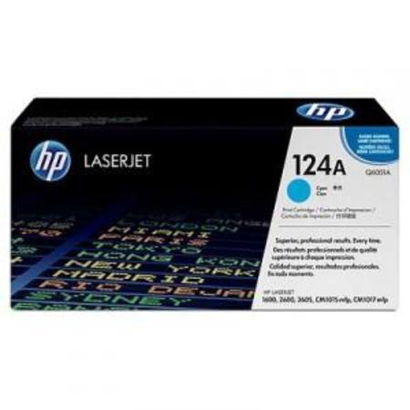 HP Colour LaserJet 124A Cyan Original Toner Cartridge with Smart Printing Technology (Q6001A)