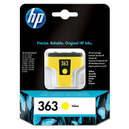 HP 363 Yellow Original Ink Print Cartridge