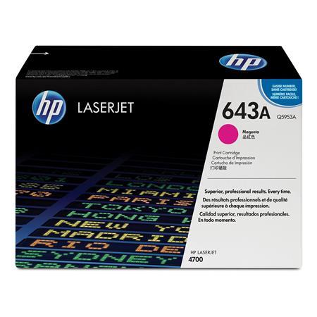 HP Colour LaserJet 643A Magenta Original Toner Cartridge with HP ColourSphere Toner (Q5953A)