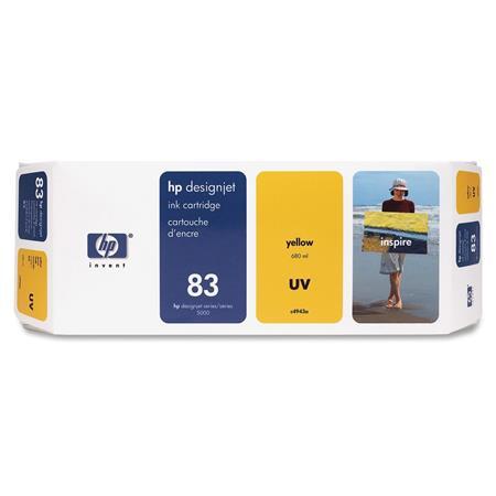 HP 83 Yellow Pigment-Based UV-Resistant Ink Cartridge