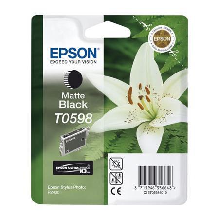 Epson T0598 (T059840) Matte Black Original Ink Cartridge (Lily)