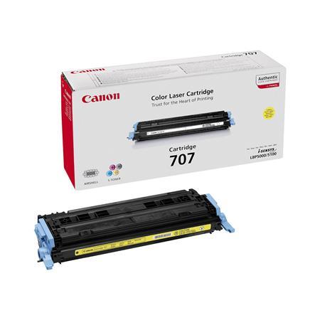 Canon 707Y Yellow Original Laser Toner Cartridge