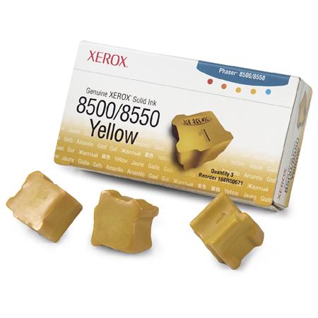 Xerox 108R00671 Original Yellow Colourstix (Pack of 3 Sticks)