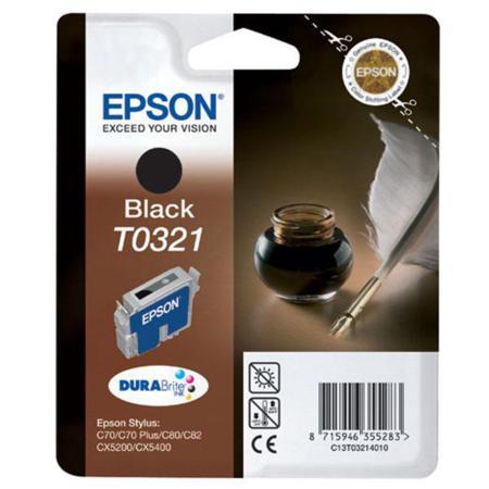 Epson T0321 (T032140) Black Original Ink Cartridge (Quill)