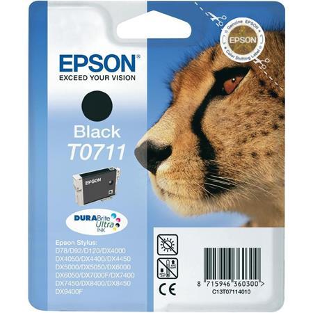 Epson T0711 (T071140) Black Original Ink Cartridge (Cheetah)