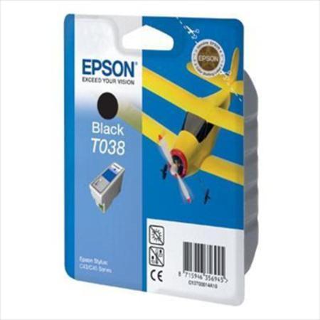 Epson T038 (T038140) Black Original Ink Cartridge (Airplane)