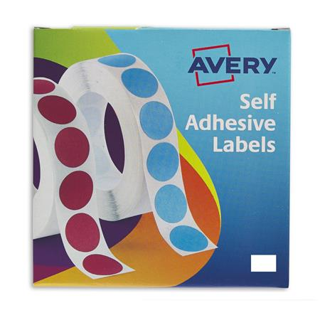 Avery Labels in Dispensers 12x18mm White 24-415 (2000Labels)