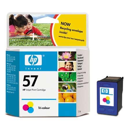HP 57 Tri-Colour Original Inkjet Print Cartridge