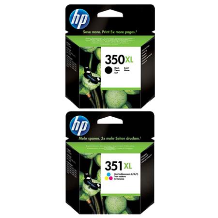 HP 350XL/351XL Set Original Inks (2 Pack)
