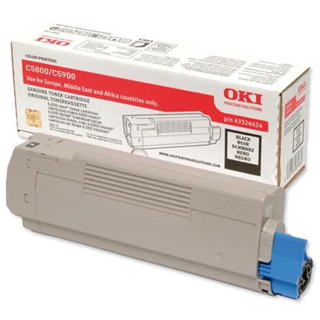OKI 43324424 Original Black Toner Cartridge