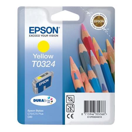 Epson T0324 (T032440) Yellow Original Ink Cartridge (Pencil)