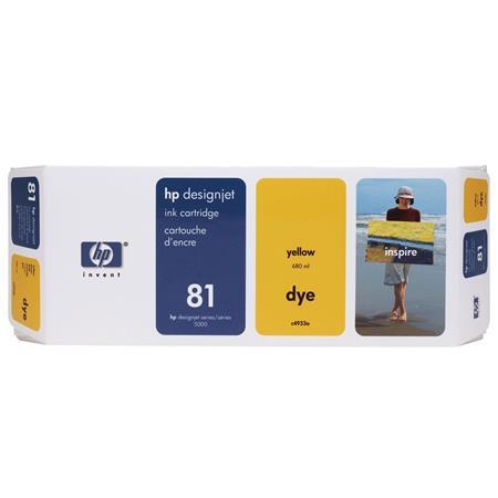 HP 81 Yellow Dye-Based Ink Cartridge