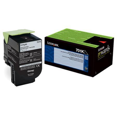 Lexmark 702K Original Black Return Program Toner Cartridge (70C20K0)