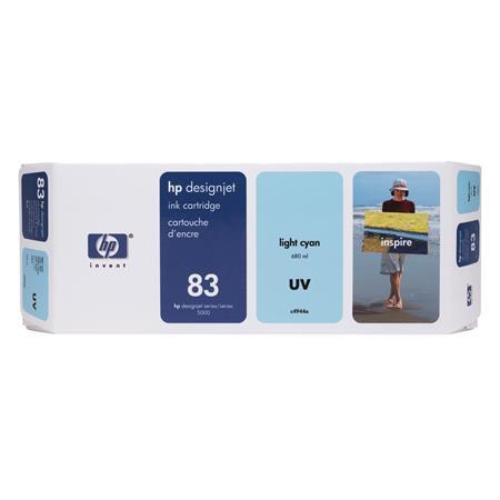 HP 83 Light Cyan Pigment-Based UV-Resistant Ink Cartridge