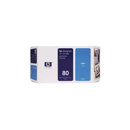 HP 80 Cyan Original High Capacity Inkjet Cartridge