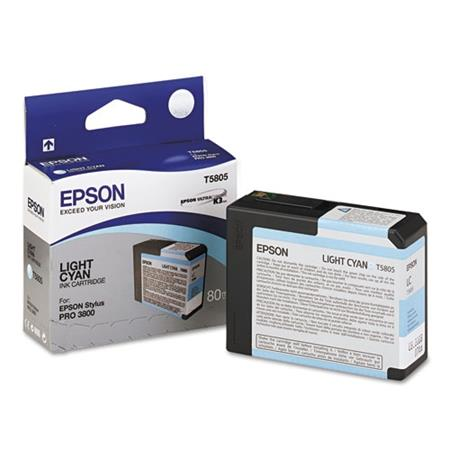 Epson T5805 (T580500) Light Cyan Original Ink Cartridge