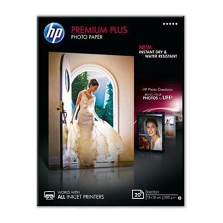 HP Premium Plus (13 x 18cm) Glossy Snapshot Photo Paper (20 Sheets)