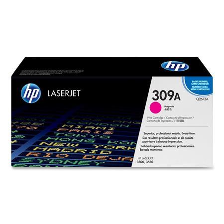 HP Colour LaserJet 309A Magenta Original Toner Cartridge with Smart Printing Technology (Q2673A)