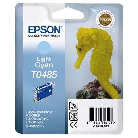 Epson T0485 (T048540) Light Cyan Original Ink Cartridge (Seahorse)