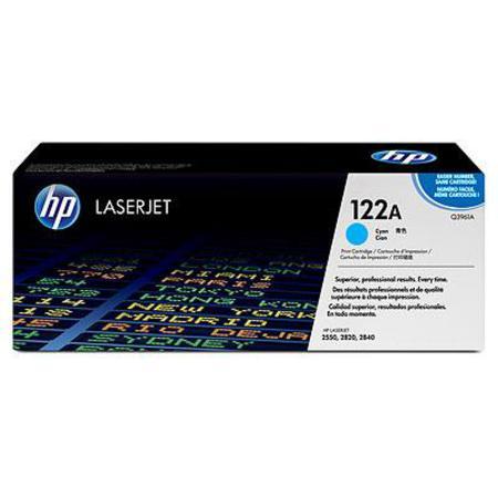 HP Colour LaserJet 122A Cyan Original Toner Cartridge with Smart Printing Technology (Q3961A)