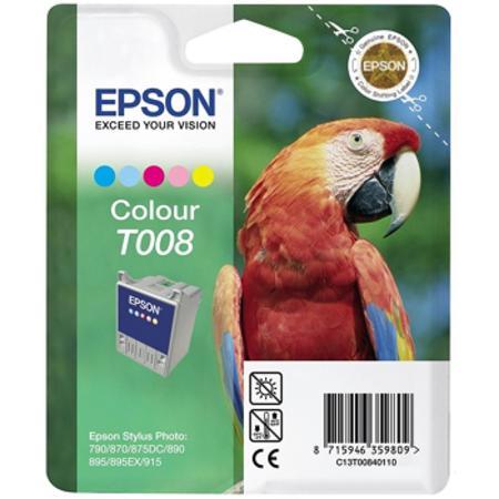 Epson T008 (T008401) Colour Original Ink Cartridge (Parrot)