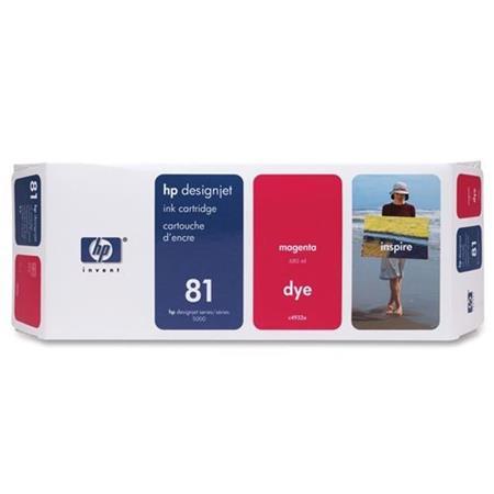 HP 81 Magenta Dye-Based Ink Cartridge