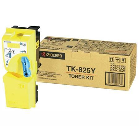 Kyocera TK-825Y Original Yellow Toner Cartridge
