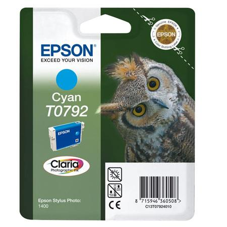 Epson T0792 (T079240) Cyan Original Ink Cartridge (Owl)