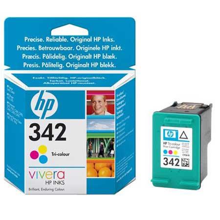 HP 342 Tri-Colour Original Inkjet Print Cartridge with Vivera Inks
