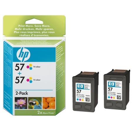 HP 57 Tri-Colour Original Twinpack Cartridge