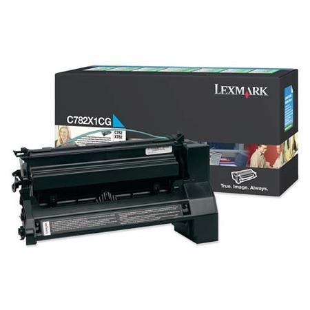 Lexmark C782X1CG Original Cyan High Yield Return Program Toner Cartridge