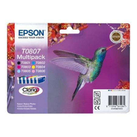 Epson T0807 (T080740) Original Ink Cartridge Multi Pack (Hummingbird)