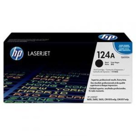 HP Colour LaserJet 124A Black Original Toner Cartridge with Smart Printing Technology (Q6000A)