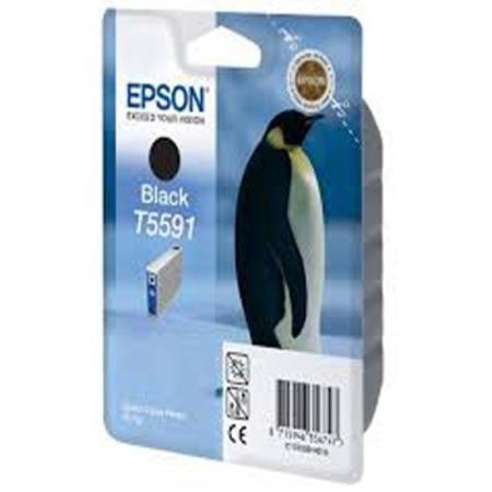 Epson T5591 (T559140) Black Original Ink Cartridge (Penguin)