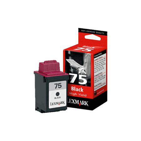 Lexmark No. 75 Black Original High Yield Ink Cartridge