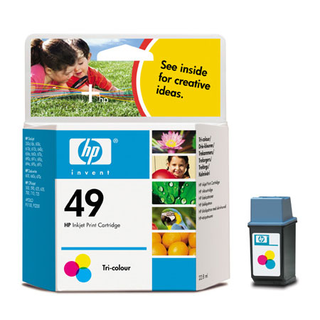 HP 49 Tri-Colour Original Inkjet Print Cartridge