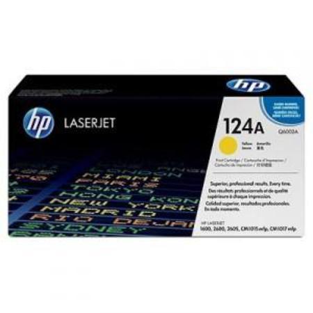HP Colour LaserJet 124A Yellow Original Toner Cartridge with Smart Printing Technology (Q6002A)