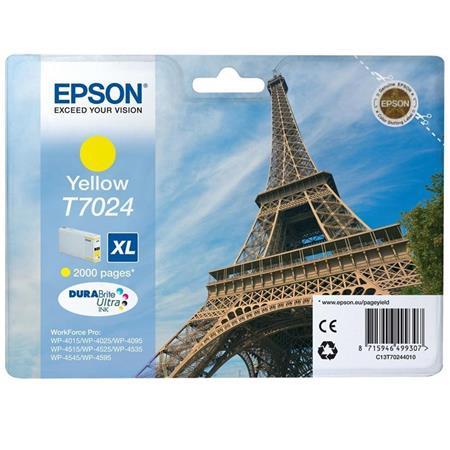 Epson T7024 (T702440) Yellow High Capacity Original Cartridge (Eiffel Tower)